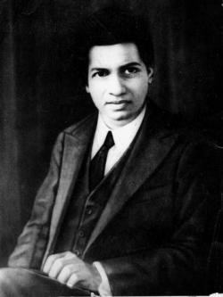 Mathematics genius Srinivasa Ramanujan.